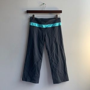 Grey Lululemon Capri Pants Reversable Sz 4